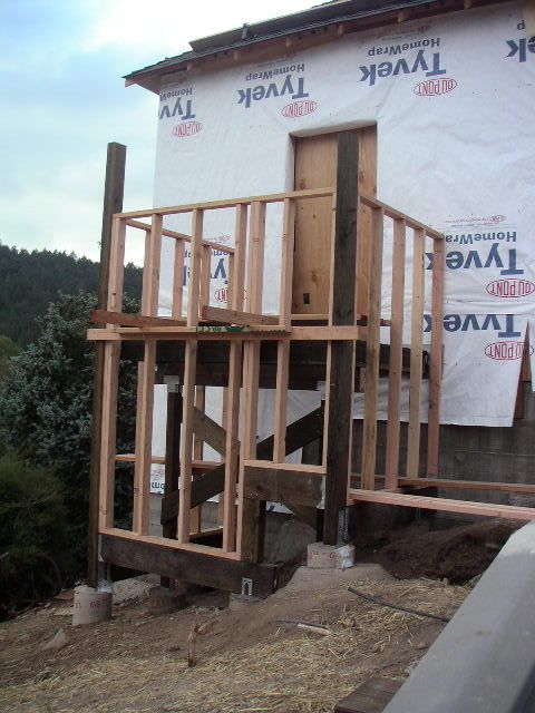 Framing the back stairs
