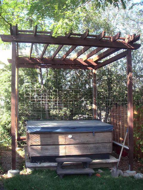 Hot tub arbor